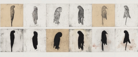 Martin King, 'Unusual Places to Die', 2011, etching watercolour & pigment on paper, 10 x 270cm