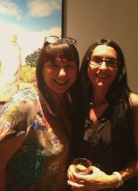 Nellie & Poli @ 'The Ghillies' opening night @ Nellie Castan Gallery, Melbourne.