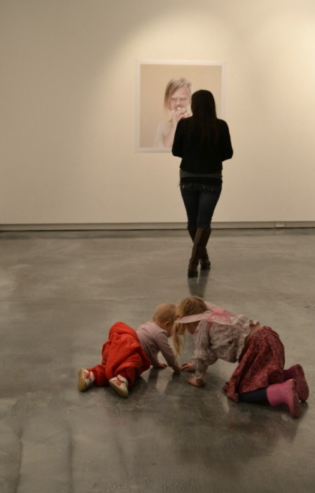 Gallery-goers, young & old, revel in the space for the last time.