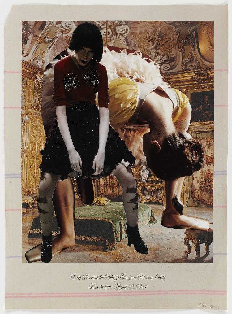 Party Room, 2012, analogue collage, 55 x38cm.